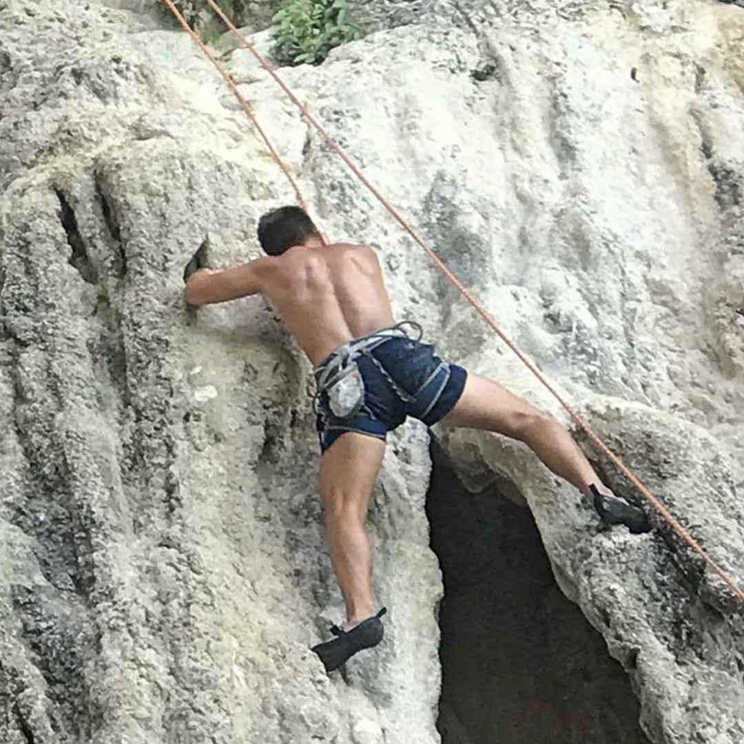 Klettern in Thailand.