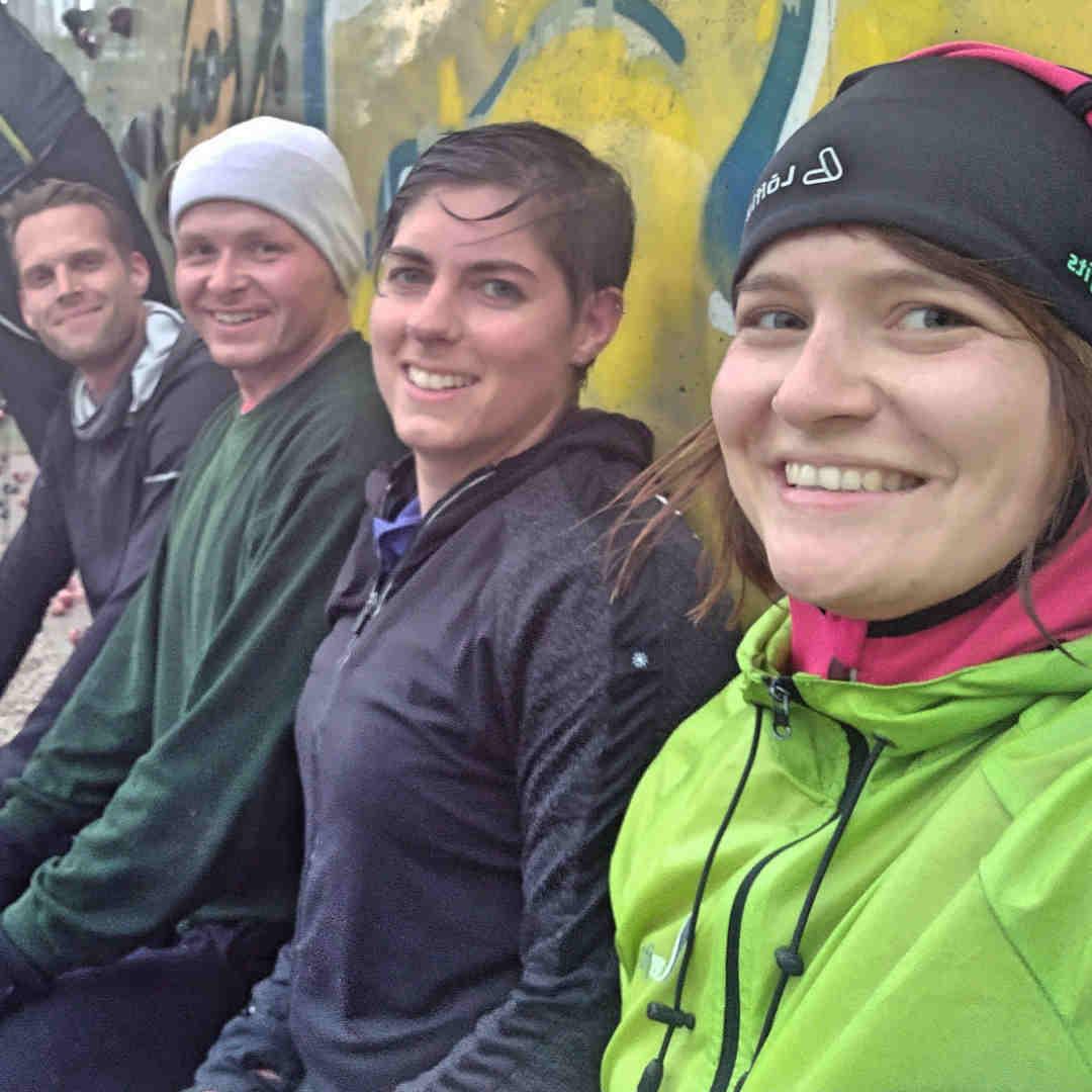 everfits Outdoor Training bei Regen.