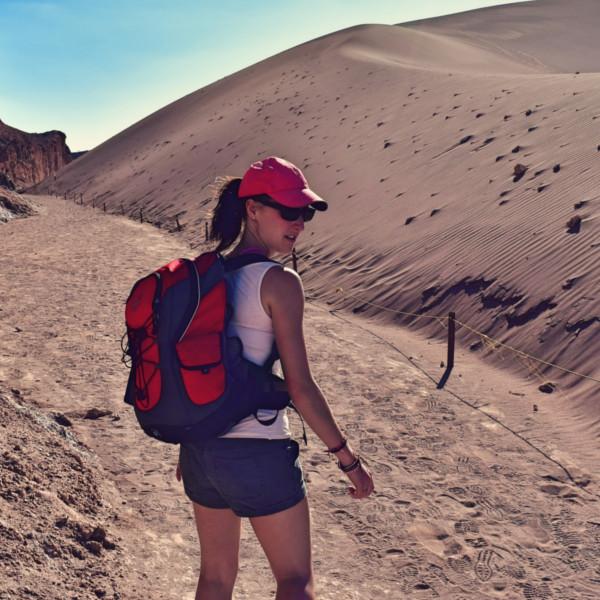 Fitness Trainer Katinka beim Wandern