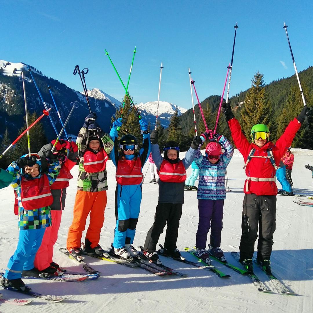 Skifahren mit Fitness Trainer Flo